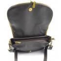 Kožená větší tmavě hnědá crossbody kabelka na rameno tori