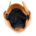 Kožená hnědá brown crossbody kabelka přes rameno devona