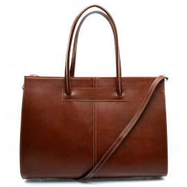 Kožená praktická hnědá brown velká kabelka Business