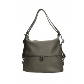 Moderní kožená tmavě šedá kabelka a batoh 2v1 Karin Three