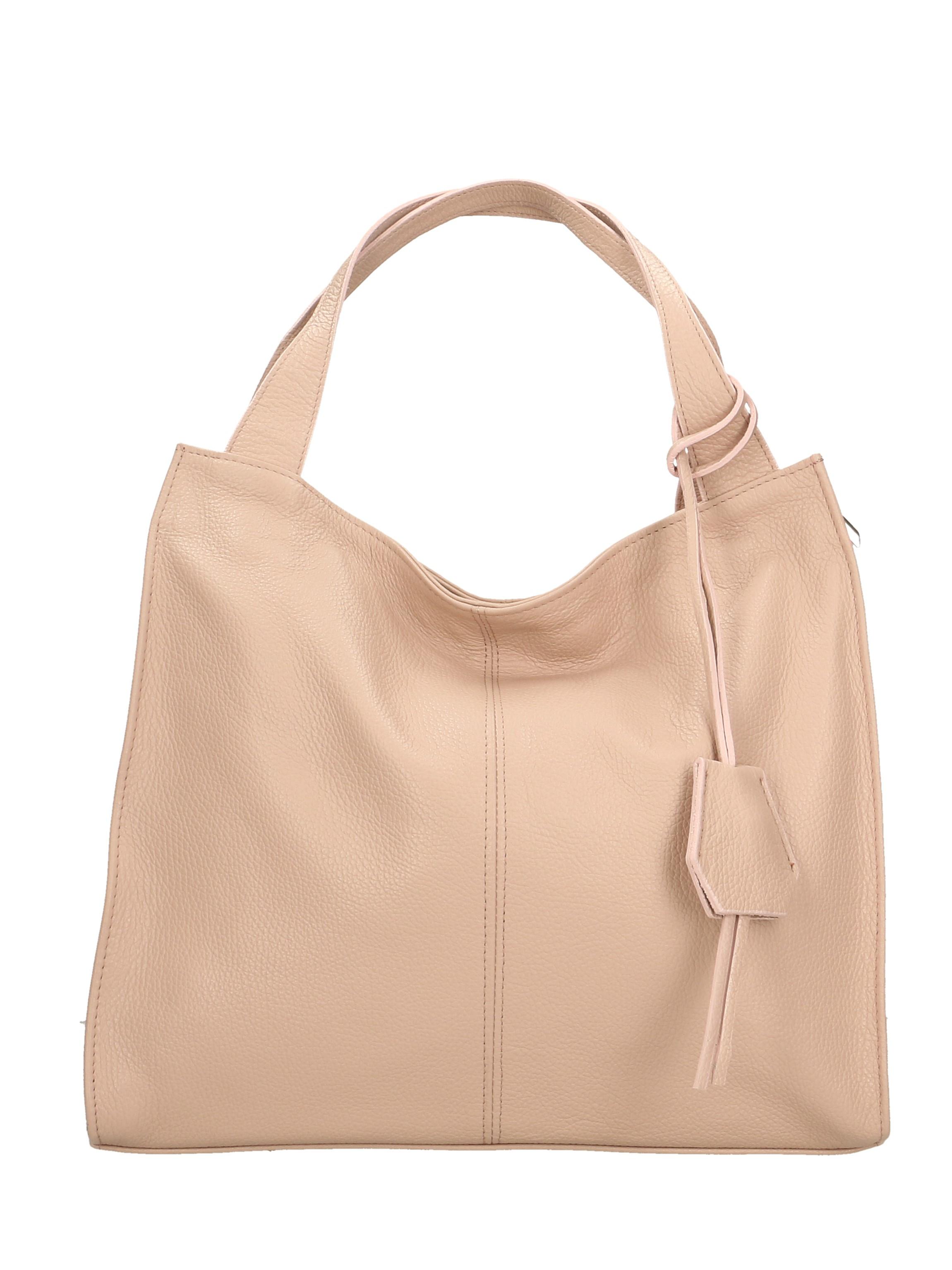 Kožená luxusní světle šedá kabelka přes rameno Darci