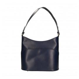Kožená praktická tmavě modrá kabelka přes rameno Nina