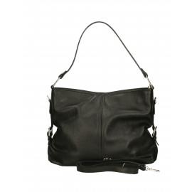 Kožená černá kabelka přes rameno Daria