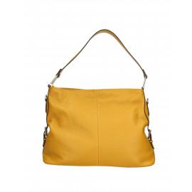 Kožená hořčicově žlutá kabelka přes rameno Daria