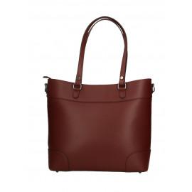 Kožená bordó kabelka do ruky Sonia