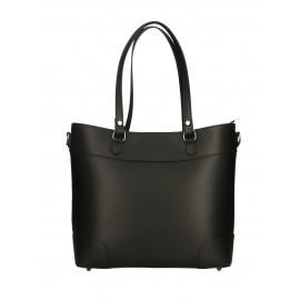 Kožená černá kabelka do ruky Sonia