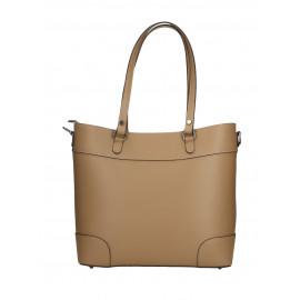 Kožená béžová taupe kabelka do ruky Sonia