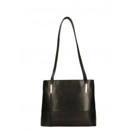 Kožená praktická černá kabelka přes rameno Olivia