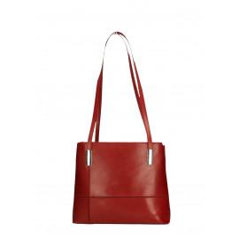 Kožená praktická červená bordó kabelka přes rameno Olivia