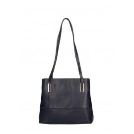 Kožená praktická tmavě modrá kabelka přes rameno Olivia