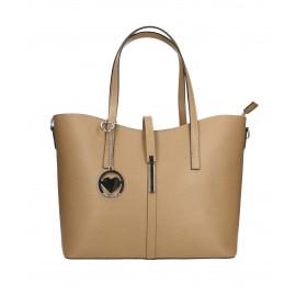 Kožená béžová taupe kabelka do ruky Sonia Two