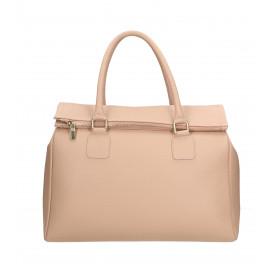 Kožená luxusní tmavě šedá kabelka do ruky Francesca