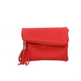 Kožená sytě červená crossbody kabelka na rameno Tori Little
