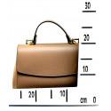 Kožená luxusní tmavší béžová taupe kufříková kabelka joane