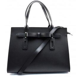 Kožená menší černá kabelka do ruky joley