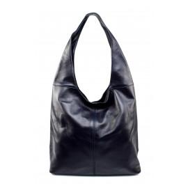 Kožená tmavší modrá taška na rameno feris