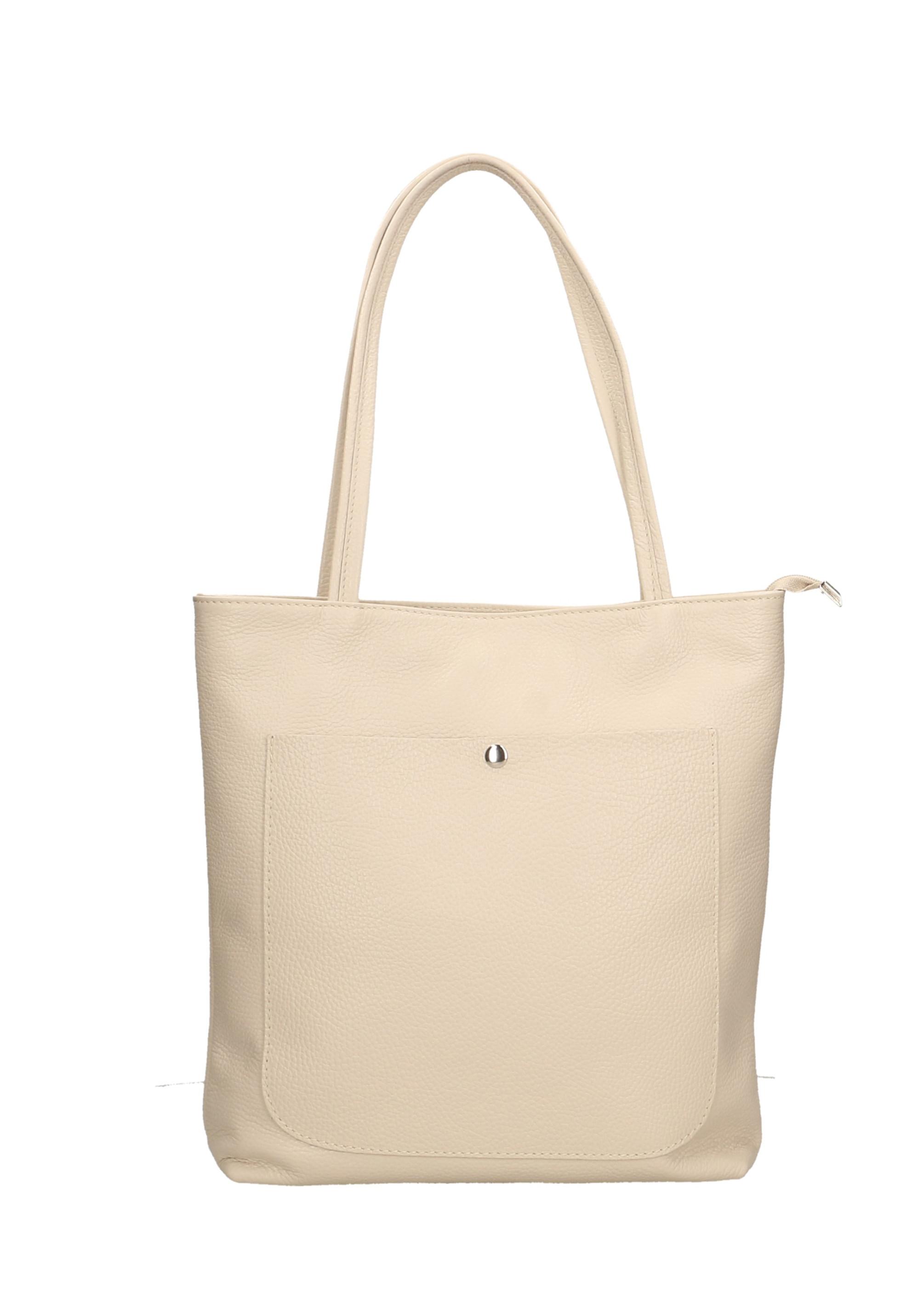 Kožená koňakově hnědá shopper taška na rameno melani