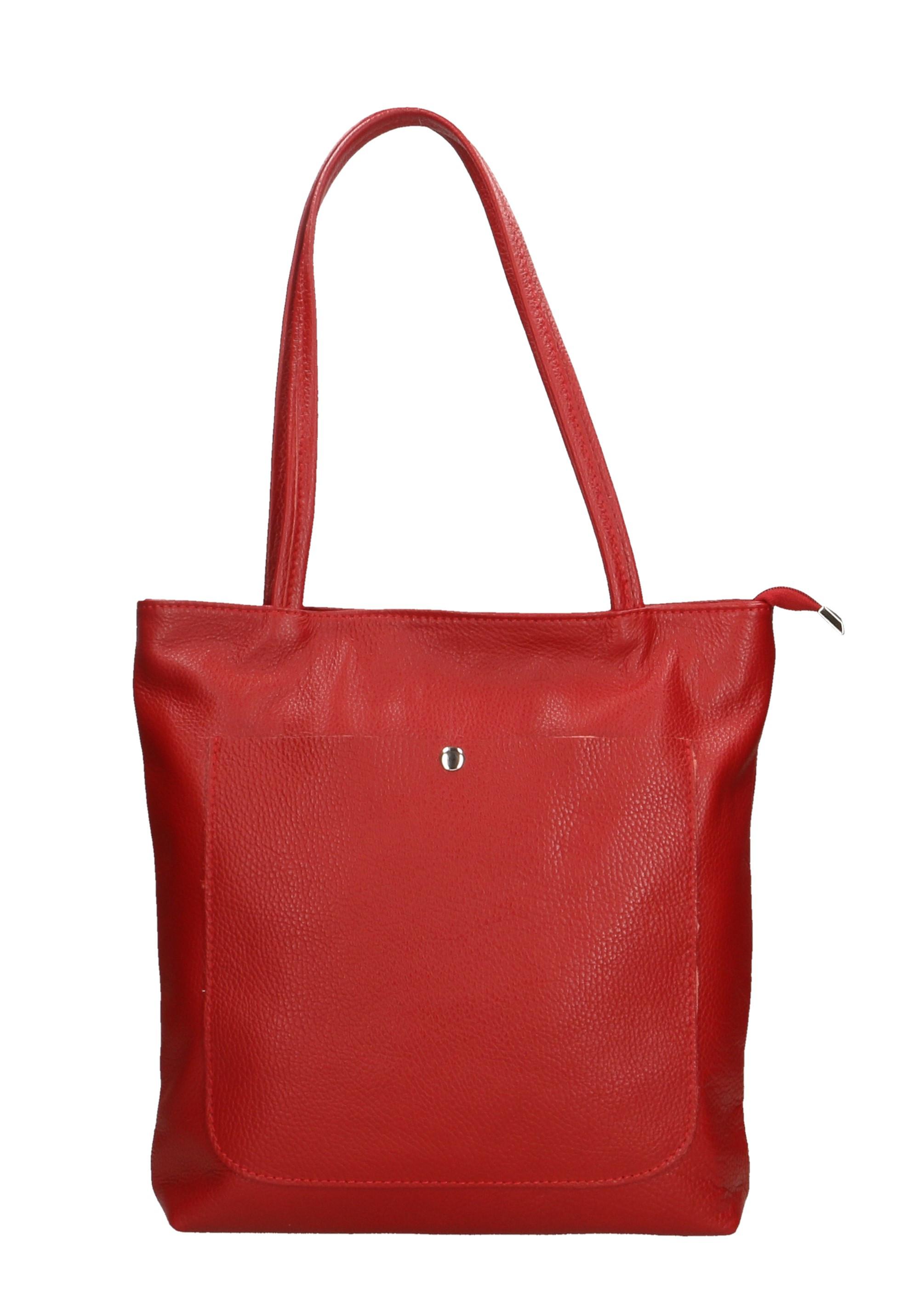 Kožená béžová shopper taška na rameno Stela