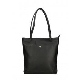 Kožená černá shopper taška na rameno Stela