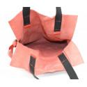 Kožená červená velká shopper taška na rameno claudia two