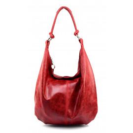Stylová praktická tmavě červená kožená kabelka přes rameno Relic