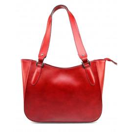 Kožená červená bordó kabelka přes rameno tinian