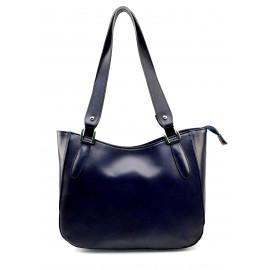 Kožená modrá kabelka přes rameno tinian