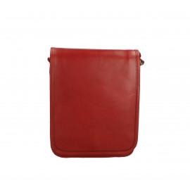 kožená menší unisex tmavě červená crossbody kabelka Luci Little