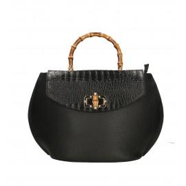 Kožená černá kabelka do ruky Gabriela