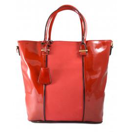Červená lakovaná kabelka na rameno Rim