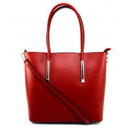 Kožená luxusní tmavě červená kabelka přes rameno Cherril