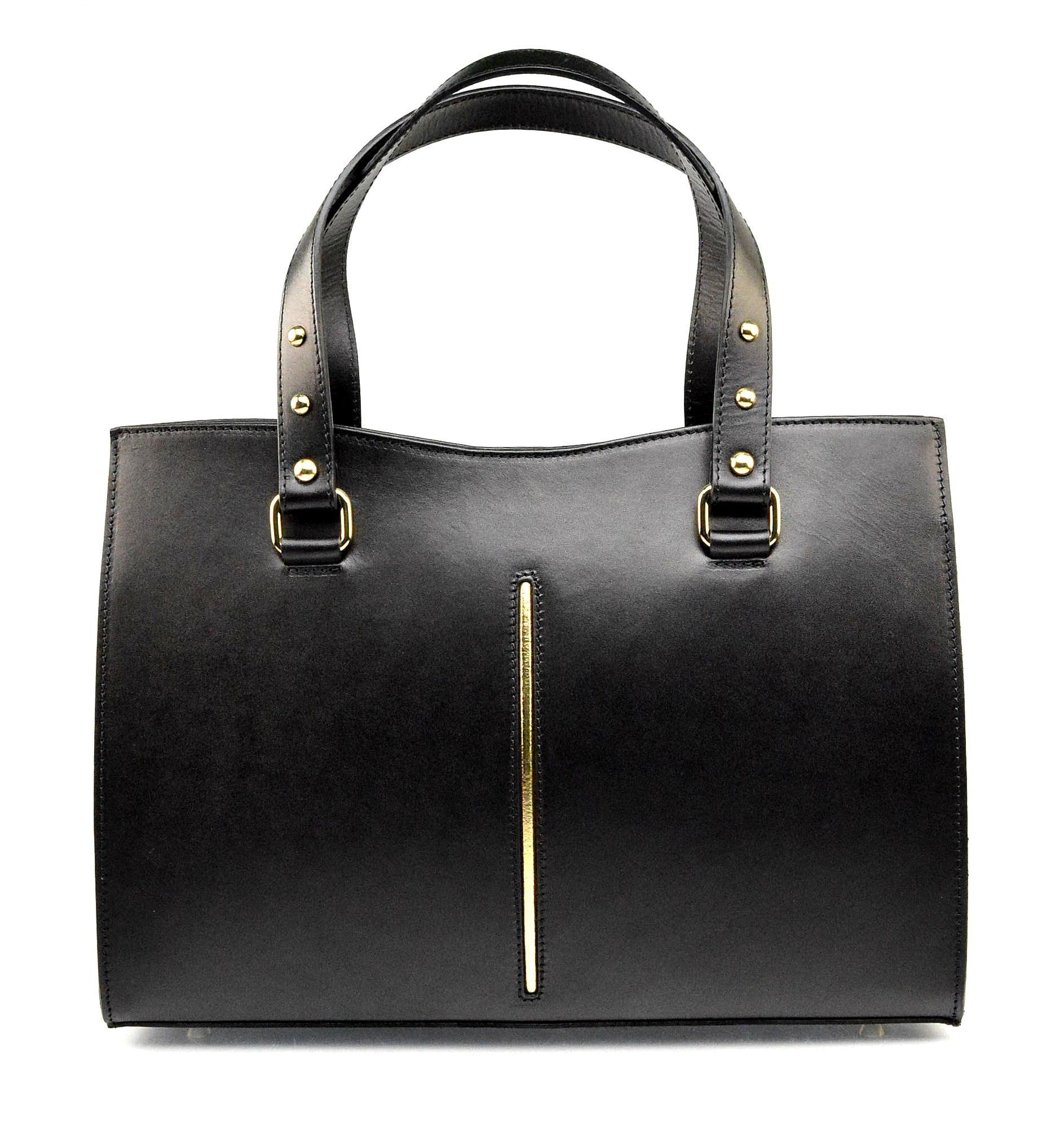 Kožená luxusní menší černá kabelka eleanora