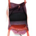 Kožená sytě červená shopper taška na rameno Melani Two