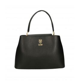 Kožená menší černá kabelka do ruky Kairi