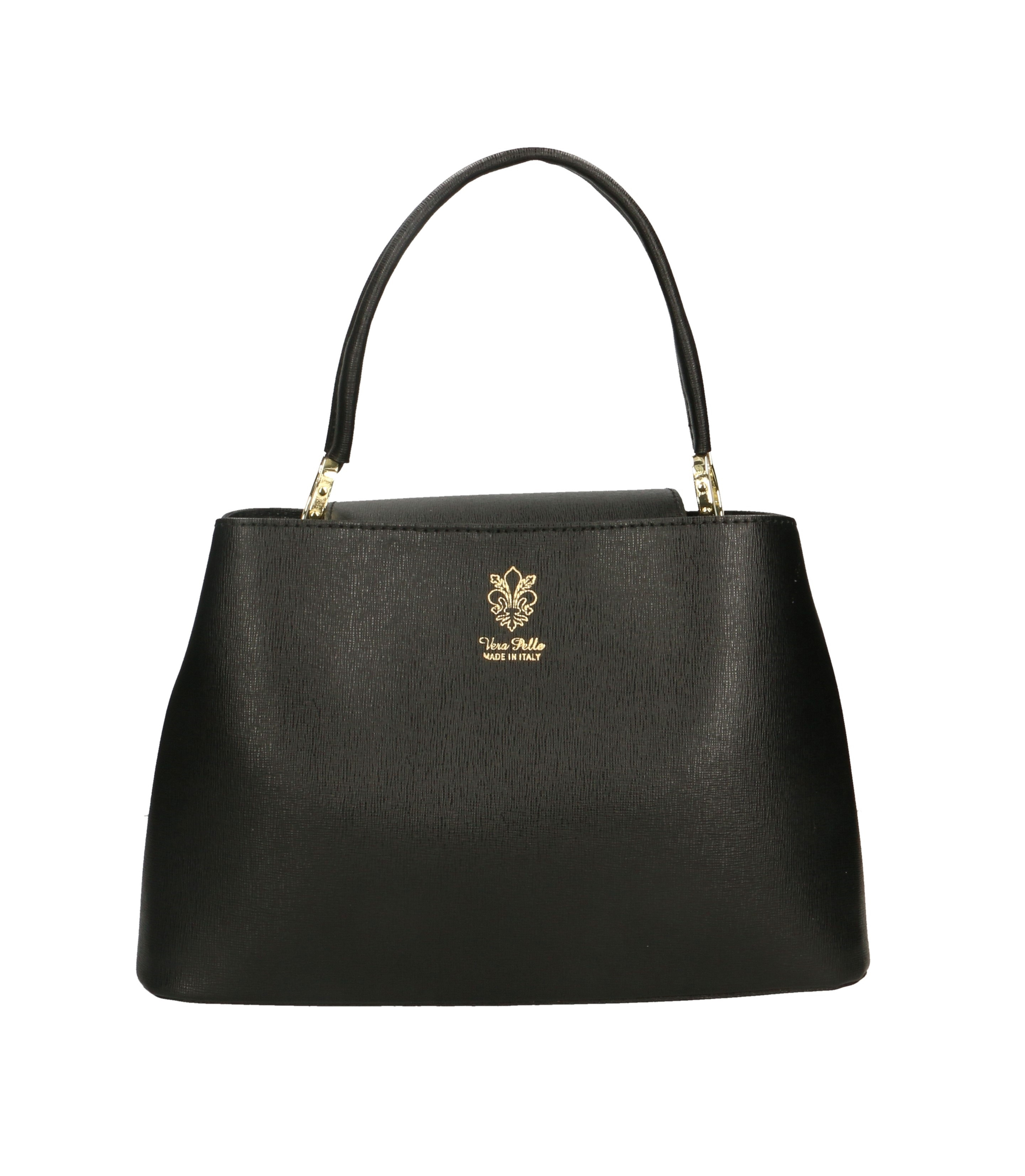 Kožená malá černá kabelka do ruky samantha