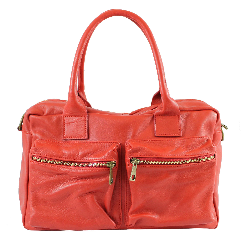 Kožená luxusní hnědá brown kabelka do ruky Adina