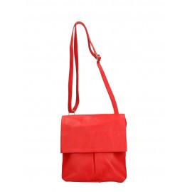 Kožená červená crossbody kabelka na rameno Sabrina Two