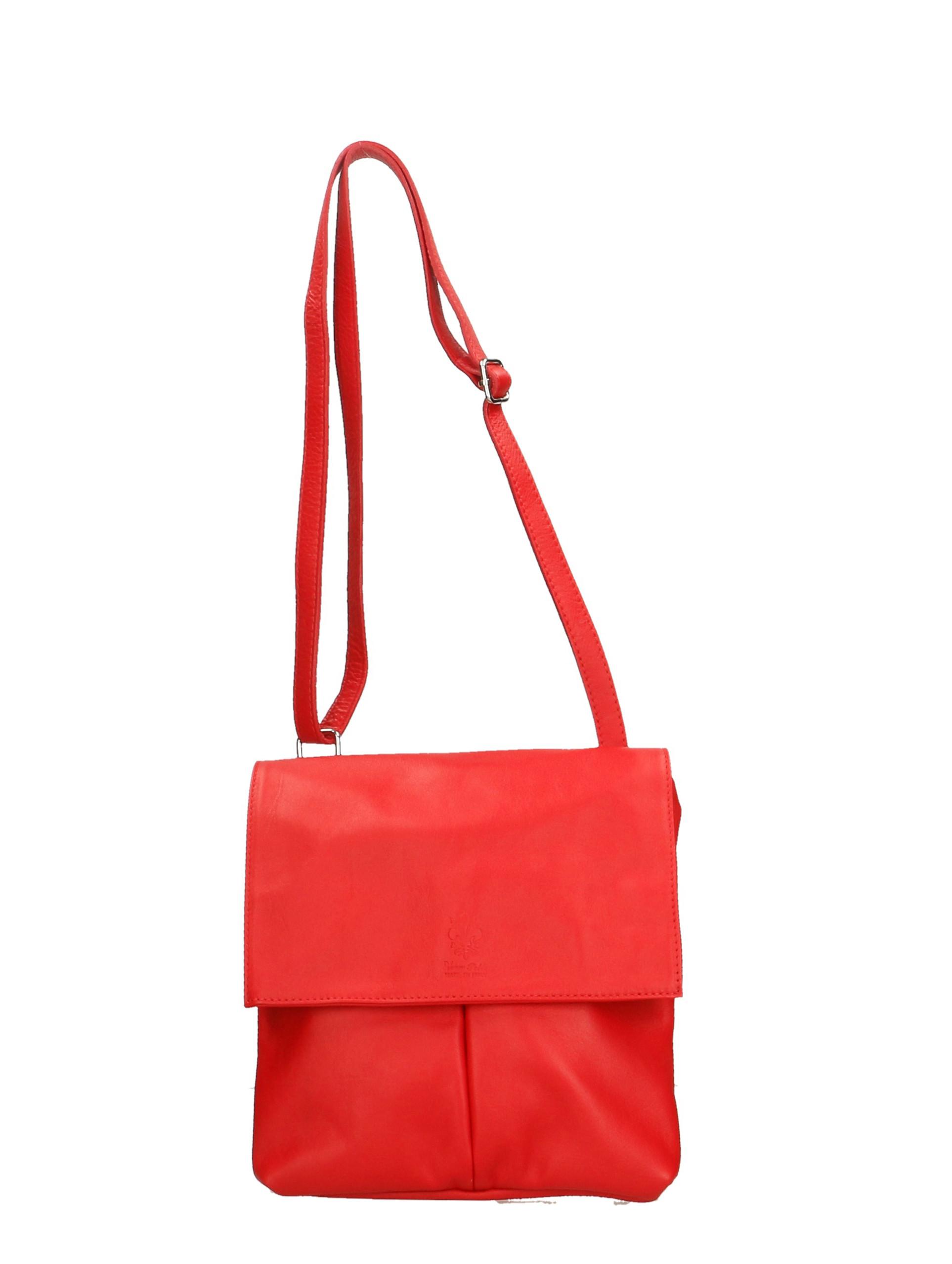 Kožená červená crossbody kabelka na rameno sabrina