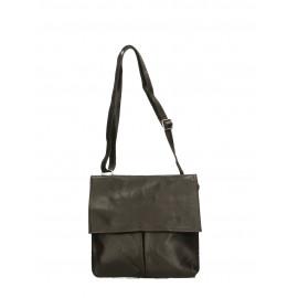 Kožená tmavě hnědá crossbody kabelka na rameno Sabrina Two