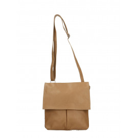 Kožená béžová taupe crossbody kabelka na rameno Sabrina Two
