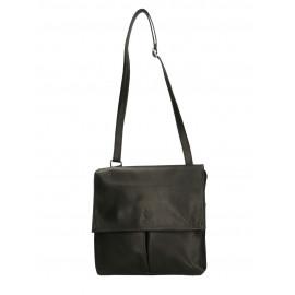 Kožená černá crossbody kabelka na rameno Sabrina Two