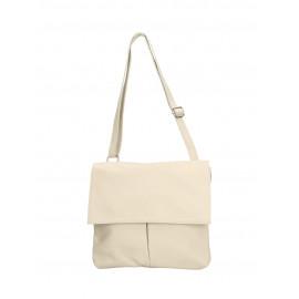 Kožená béžová beige crossbody kabelka na rameno Sabrina Two
