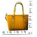 Kožená žlutá kabelka přes rameno Emi