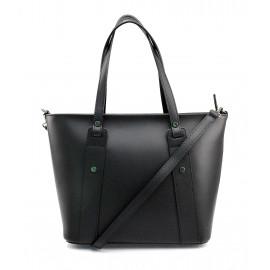 Kožená černá kabelka přes rameno Emi