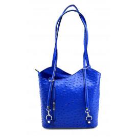 Kožená luxusní modrá crossbody kabelka Royal