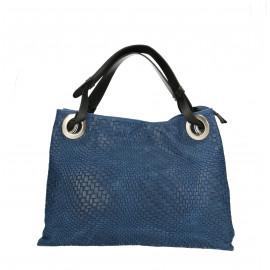 Kožená tmavě modrá kabelka přes rameno Helene