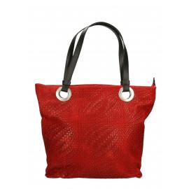 Kožená tmavě červená kabelka přes rameno Helene Two