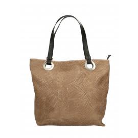 Kožená béžová taupe kabelka přes rameno Helene Two