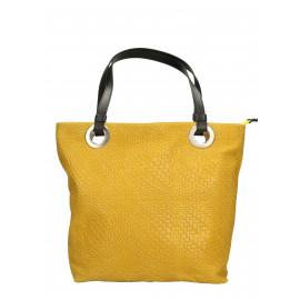 Kožená žlutá kabelka přes rameno Helene Two