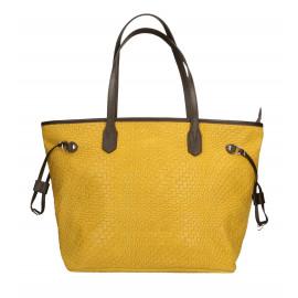 Kožená žlutá kabelka přes rameno Helene Three